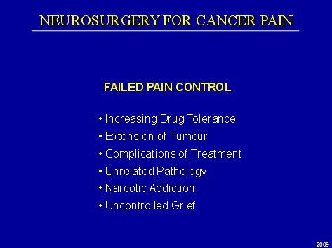 Failed Pain Control